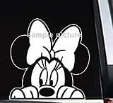 ディズニー ミニーマウス 覗く車のトラックの窓のステッカーデカール カーステッカー (並行輸入品)