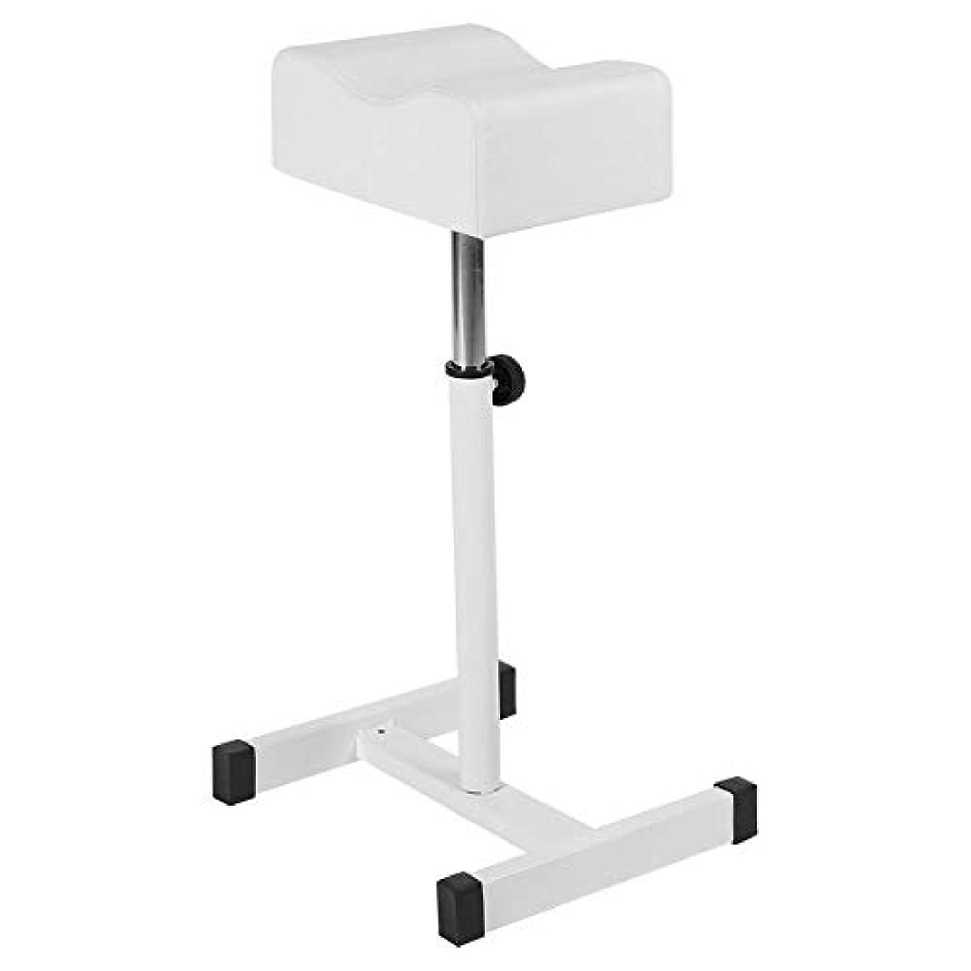 サロンスツール白、高さ調節可能な化粧品椅子スパスツールスパスイベルホームショップの快適なシートクッションスツールホワイト