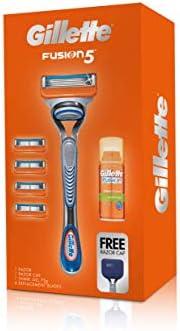 Gillette Fusion Razor + Cartridge + Gel Gift Set,