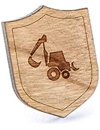 Backhoeラペルピン、木製ピンとタイタック|素朴な、ミニマルGroomsmenギフト、ウェディングアクセサリー