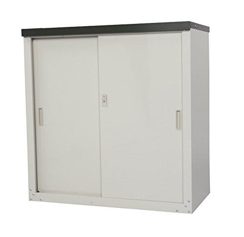 グリーンライフ(GREEN LIFE) 家庭用小型収納庫 簡単組立 スチール製で丈夫な収納庫 カギ付 幅89×奥47×高さ92cm HS-92