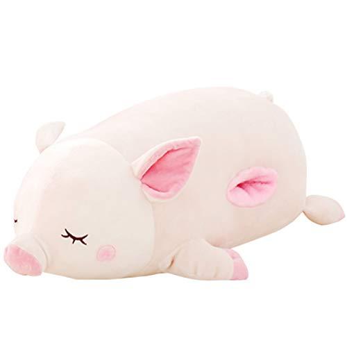 Felimoa ブタの抱き枕 大きいぬいぐるみ 豚 置物 アニマル クッション 洗える ピンク