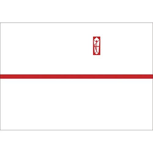 OA対応のし紙 熨斗紙 豆判5号 赤棒 京 2-675 1セット 1000枚:100枚×10冊