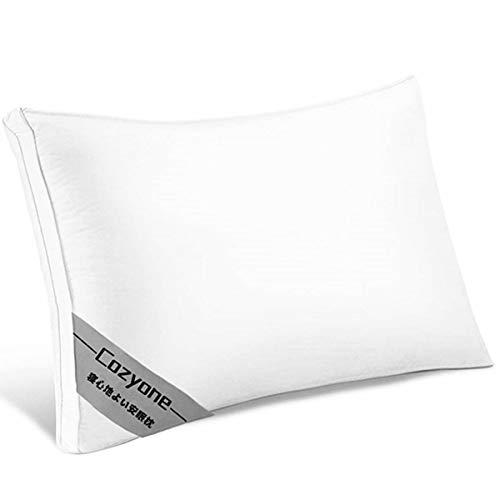 Cozyone 枕 安眠 人気 肩こり 良い通気性 快眠枕 高級ホテル仕様 高反発枕 横向き対応 通気性抜群 抗菌 防臭 丸洗い可能 立体構造43x63cm 家族のプレゼント ホワイト