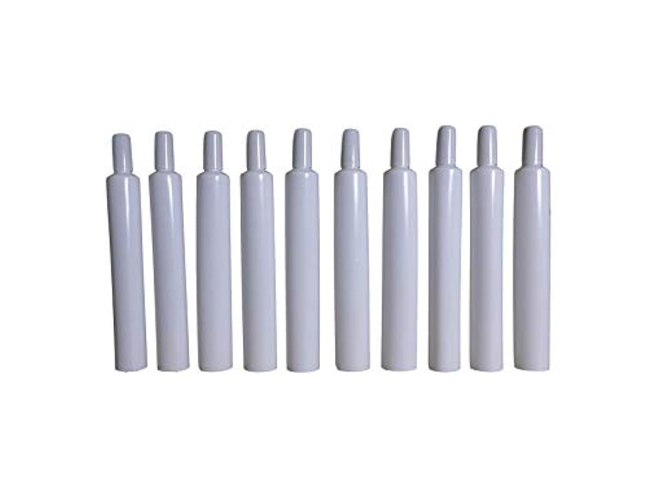 粒子はぁ幸運なことに【化粧品メーカー様向け】 プラスチック押出チューブ 16φ トンガリ 内容量10g 10個セット【サンプルなどに】 エンドシール可能なお客様向け