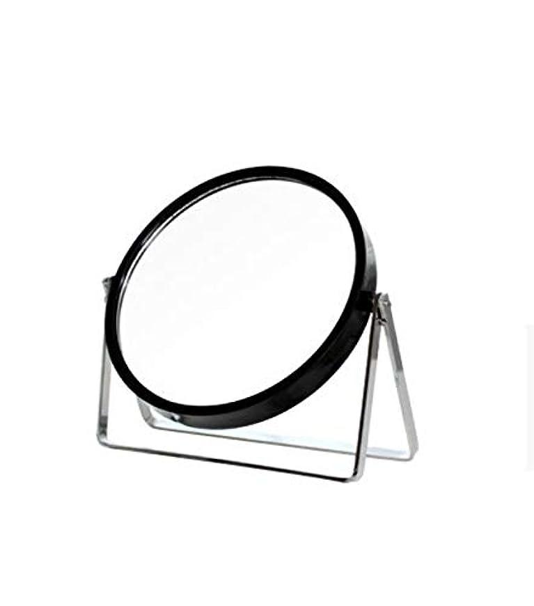 ライブ思い出させるピアニスト化粧鏡、シンプルなラウンドホーム寮デスクトップ化粧鏡化粧ギフト (Color : ブラック)