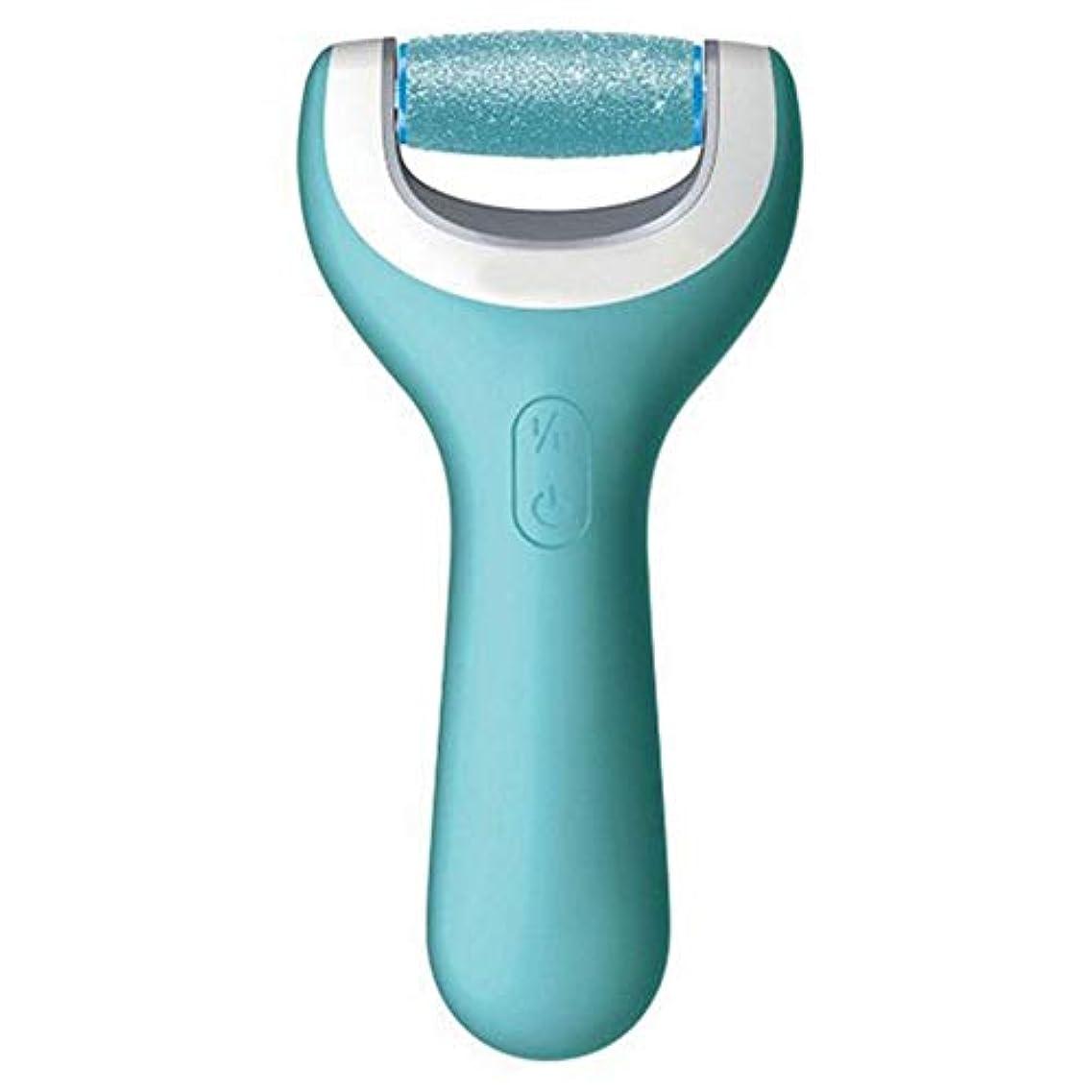 いいね不適当妊娠した足乾燥ひびの入ったデッドスキン防水電動フットグラインダーローラー用USB充電式フットファイル ペディキュアツール (色 : 青, サイズ : Free size)
