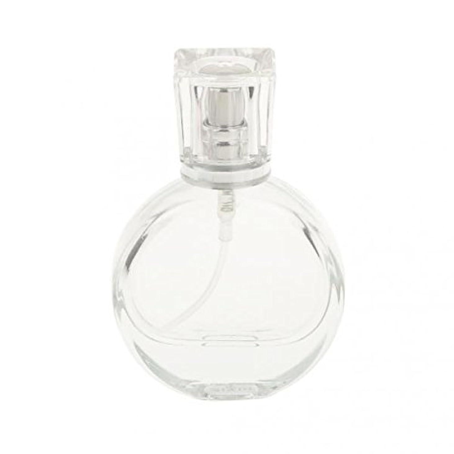わずかにマラウイ必要性ノーブランド品 2枚 ガラス製 香水スプレーボトル 矩形 丸い アトマイザー 詰め替え 旅行収納 全3パタン - 20ミリリットル