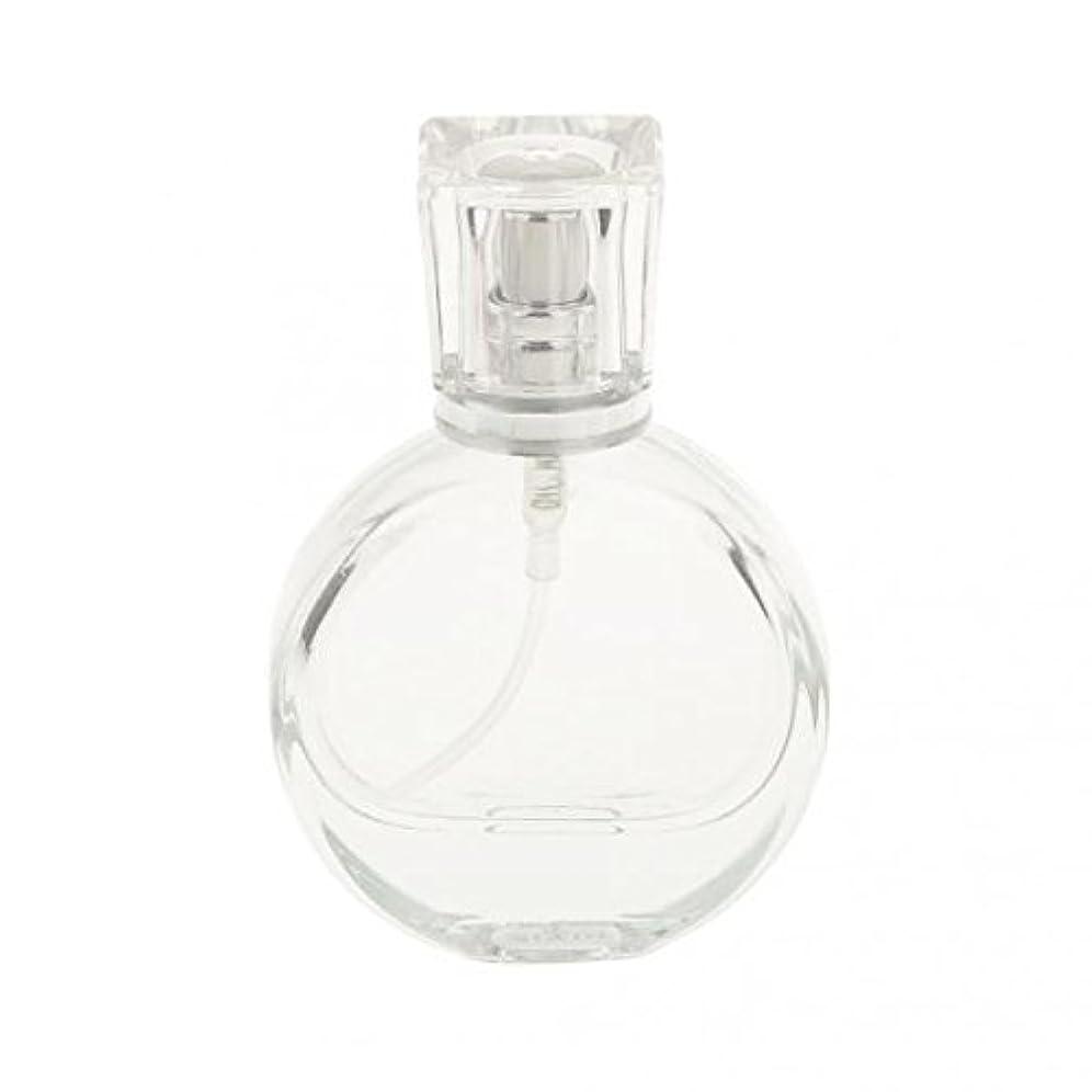 枯れるによると泣くノーブランド品 2枚 ガラス製 香水スプレーボトル 矩形 丸い アトマイザー 詰め替え 旅行収納 全3パタン - 20ミリリットル