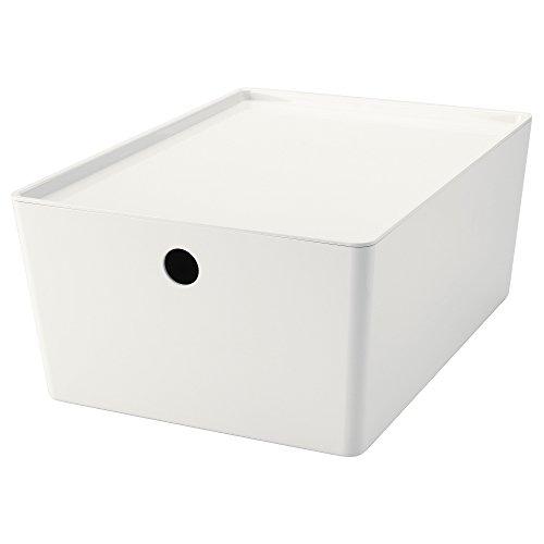 IKEA イケア KUGGIS ふた付きボックス - 26x35x15 cm 902.802.04,90280204