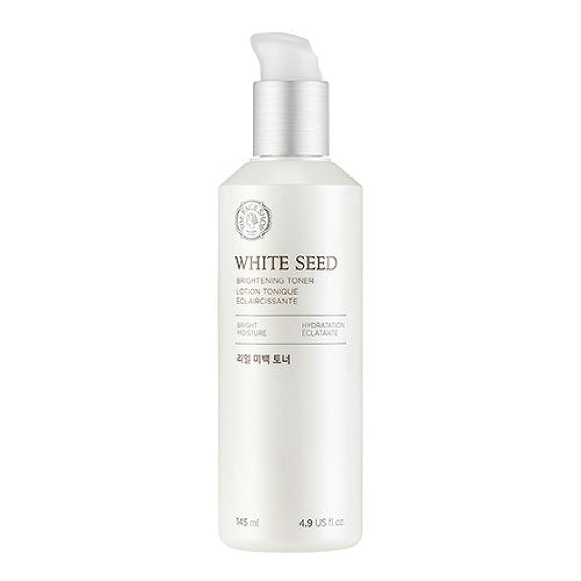 文あそこ権限ザフェイスショップ(THEFACESHOP) ホワイトシードビライトニングトナー 化粧水 WHITE SEED BRIGHTNING TONER 145ml