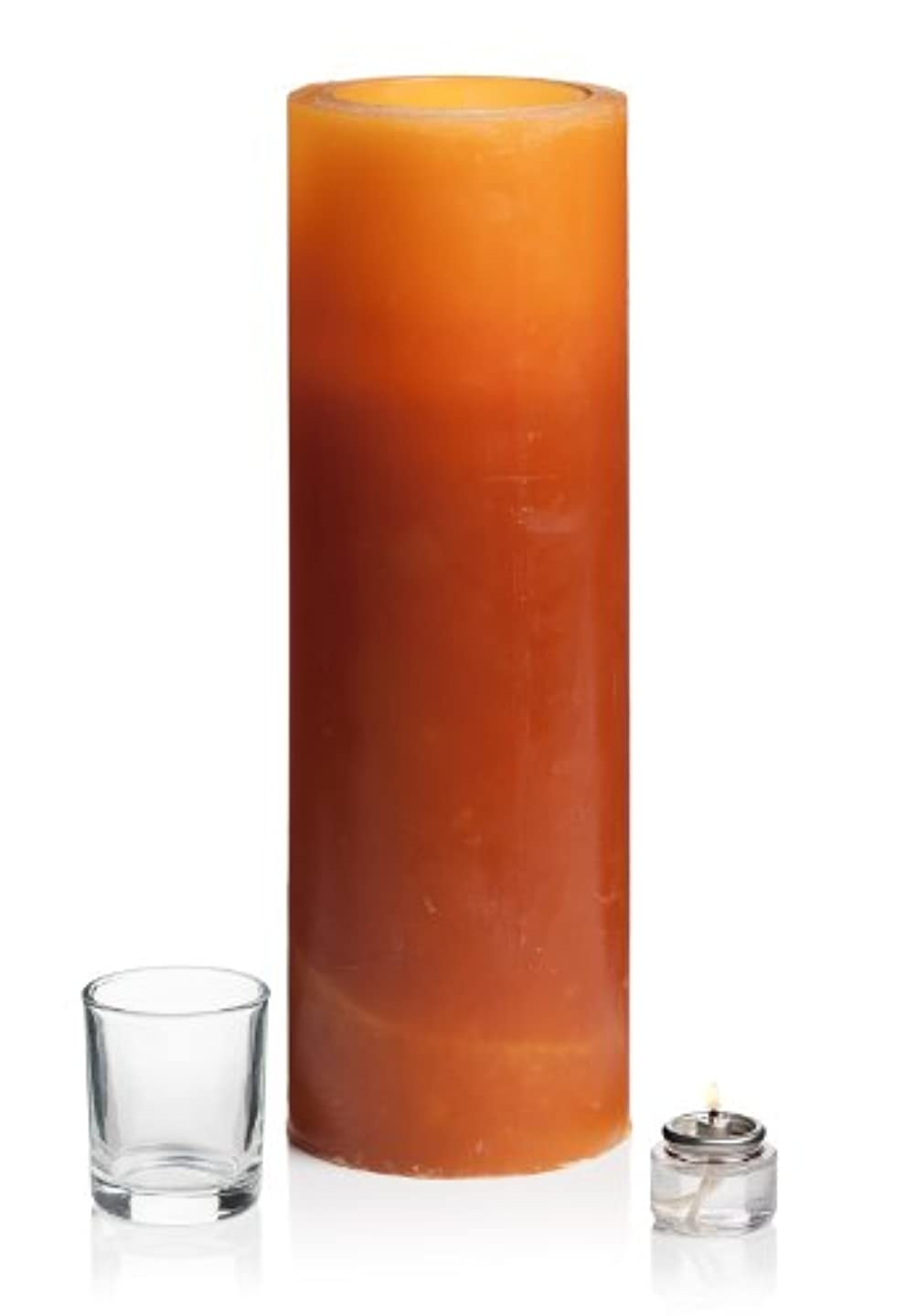 ランク精巧な液化する(10cm x 30cm, Amber) - Stone Candles L12M Amber Luminary Candle, 10cm by 30cm