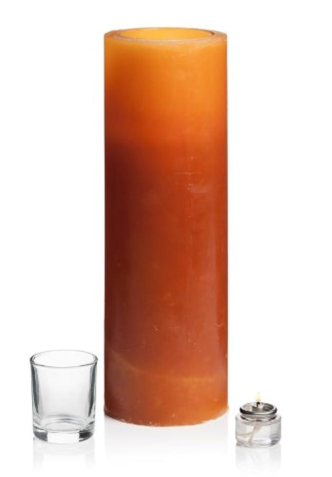 これらスロープサンダル(10cm x 30cm, Amber) - Stone Candles L12M Amber Luminary Candle, 10cm by 30cm