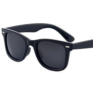 PENGIN(ペンギン) ウェリントン型 サングラス 偏光 レンズ UV400 加工 男女共用 PENGINロゴ入りケース&クロス3点セット (ブラック)