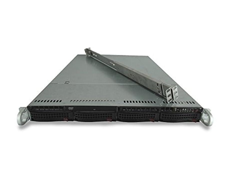 すべき伝統スポンサーSupermicro SuperChassis CSE-815 4-Bay LFF 1U サーバー X9DRi-LN4F+、2X E5-2667 Forti6C、128GB DDR3、2X 100GBSSD、オンボードRAID、1x 560W PSU、レール(認定整備済み)
