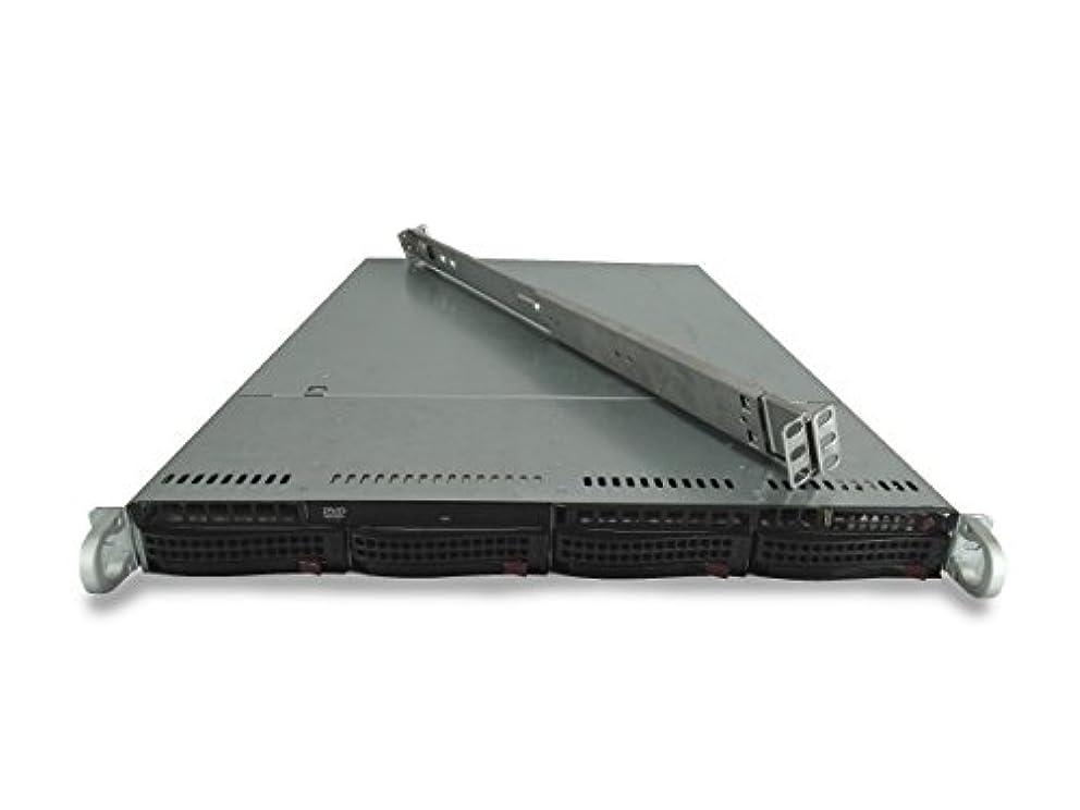 テニス音節インセンティブSupermicro SuperChassis cse-815 4-bay LFF 1uサーバーwith x9dri-ln4 F + 2 x e5 – 2630l 6 C 2.0 GHz、64 GB ddr3 , 2 x 4tb 7.2 K SATA 6 Gbps 3.5、オンボードRaid、1 x 560 W PSU、レール(認定Refurbished)