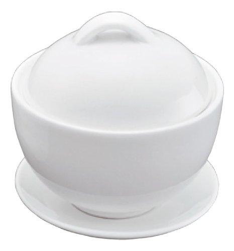 耐熱性磁器 蓋付小鉢・受皿付 φ92×H95