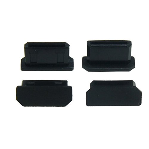 HDMI Mini(HDMI ミニコネクタ用)機器用キャップ(黒) つまみなし 黒  6個/パック HDMIMNCK-B0-6