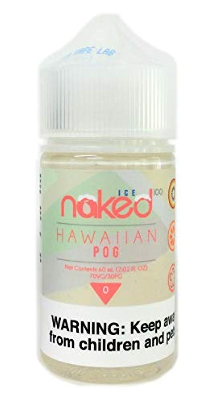 なぜ許さないブランチnaked100 ICE 電子タバコリキッドプラスチックボトル60ml HAWAIIAN POG(アイスハワイアン ピーオージー)