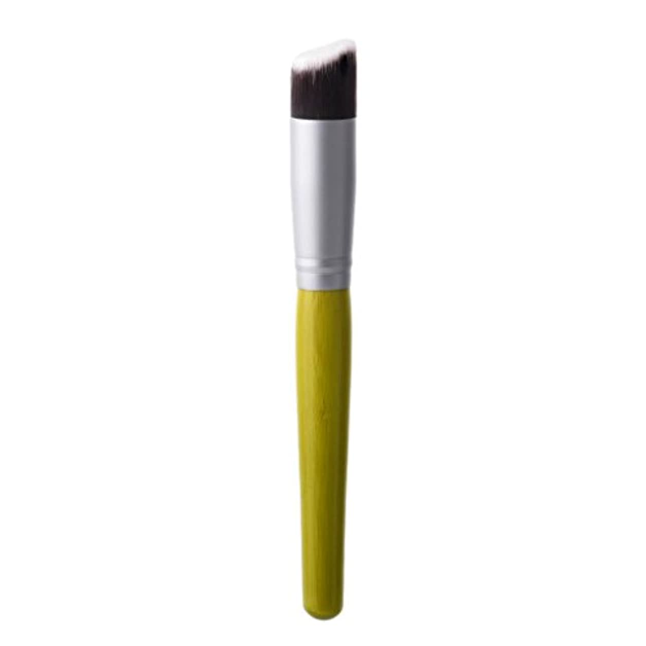 わずかな告発解釈するKesoto メイクブラシ 竹角 フラットトップ バッファブラシ リキッド ファンデーション ブロンザー 化粧道具