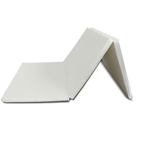 日本製 三つ折り マットレス シングル 厚み4cm 国内某有名メーカー製 お子様にも安心 (硬さ:ふつうタイプ)