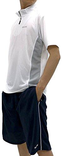SPALDING(スポルディンク) ランニングウェア 上下セット ドライ スポーツ Tシャツ ジャージ ショートパンツ メンズ ホワイト L