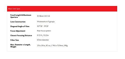 『Canon 超広角ズームレンズ EF-S10-18mm F4.5-5.6 IS STM APS-C対応 EF-S10-18ISSTM』の4枚目の画像