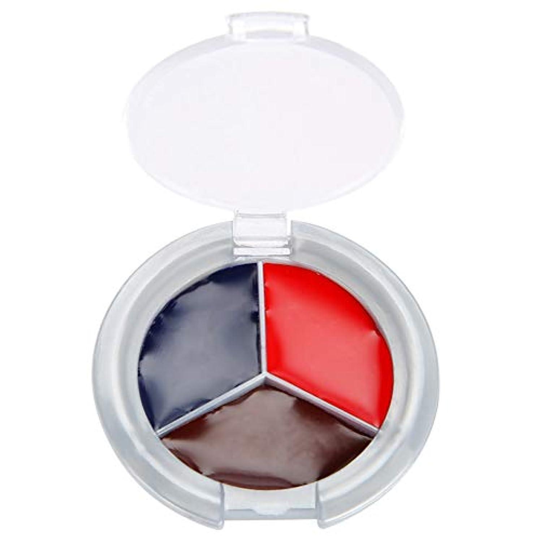 ミシン目責めさておきハロウィンメイクアップフェイスペイント油、3色プロフェッショナルフェイスボディペイント油絵アートイースターに最適、テーマパーティー、コスプレ、ファンシードレスボール、ステージパフォーマンス(赤、青、紫)