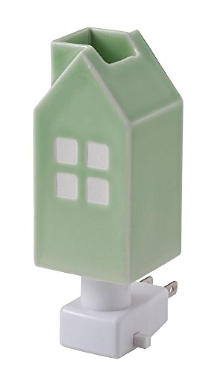 必需品決めます宝イシグロ デザイン小物 ライトグリーン W4.8×D4.8×H13cm ハウスアロマライトコンセント型 ライトグリーン 20077