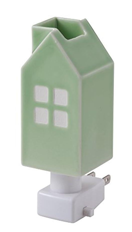 変位裁定あいまいイシグロ デザイン小物 ライトグリーン W4.8×D4.8×H13cm ハウスアロマライトコンセント型 ライトグリーン 20077