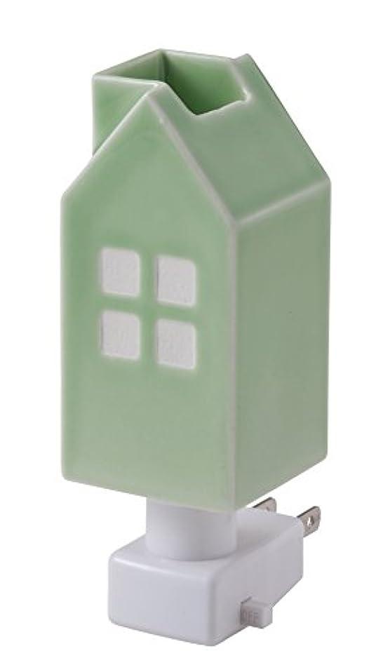障害熟したがっかりするイシグロ デザイン小物 W4.8×D4.8×H13cm ハウスアロマライトコンセント型 ライトグリーン 20077