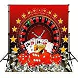 Poker Casino BackdropハイグレードPortrait布コンピュータ印刷子供写真スタジオ背景mr-2018
