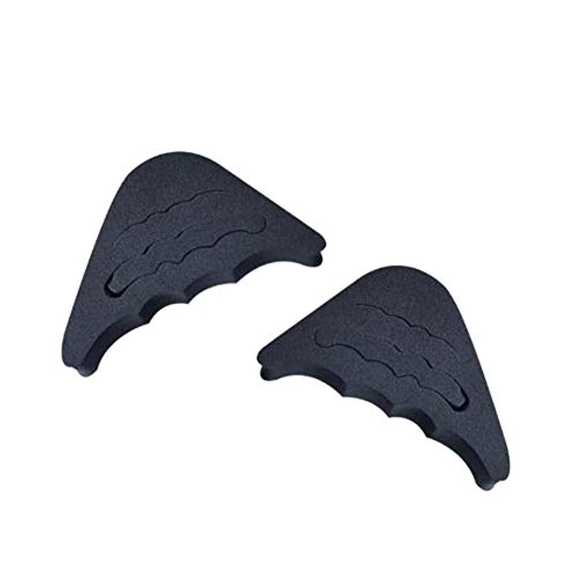 光沢サリー運動する前足インサート1ペアプロテクターゴム製柔らかい靴フィラーつま先プラグ痛みの軽減再利用可能なフロントクッション調整人間工学に基づいた洗える(黒)