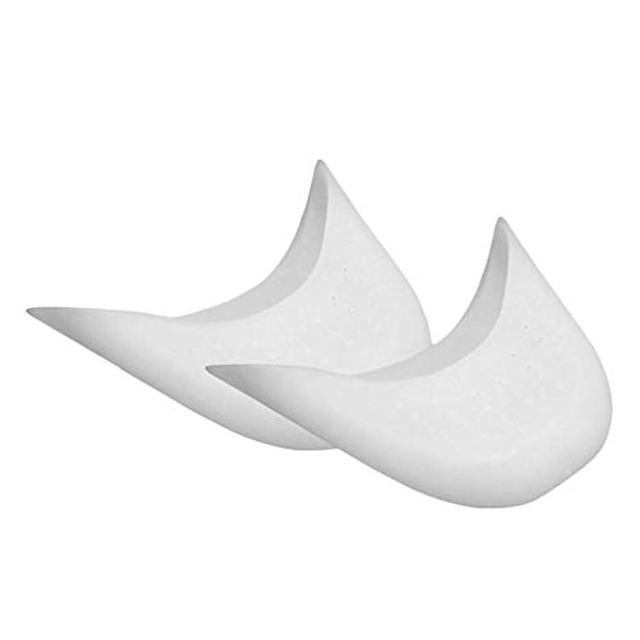 増強側溝症状ソフトシリコン中足カバーバレエポイントスポーツシューズパッドトウプロテクターバレエポワントクッショントウケア-白