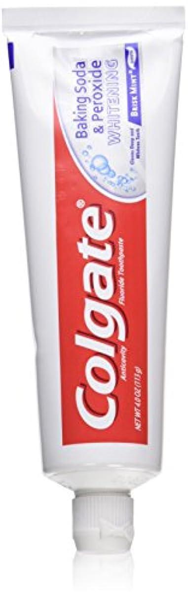 Colgate 重曹と過酸化物ホワイトニングの歯磨き粉の泡、好調ミント、4オンス