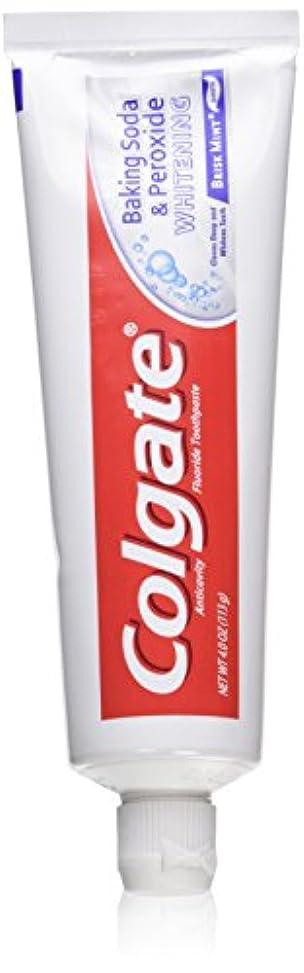 メッシュ慣れる矩形Colgate 重曹と過酸化物ホワイトニングの歯磨き粉の泡、好調ミント、4オンス