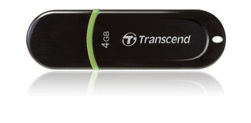 Transcend USBメモリ 4GB USB 2.0 キャップ式 ブラック (無期限保証) TS4GJF300
