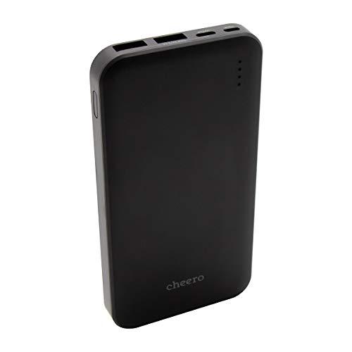 モバイルバッテリー cheero Bloom 10000mAh 大容量 3ポート出力 Type-A Type-C 急速充電 iPhone/Android 対応 AUTO-IC搭載 PSEマーク付 AtoCケーブル付 CHE-107