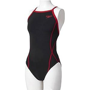 Speedo(スピード) レディース 競泳水着 練習用 ワンピース SD56T01 レッド SS