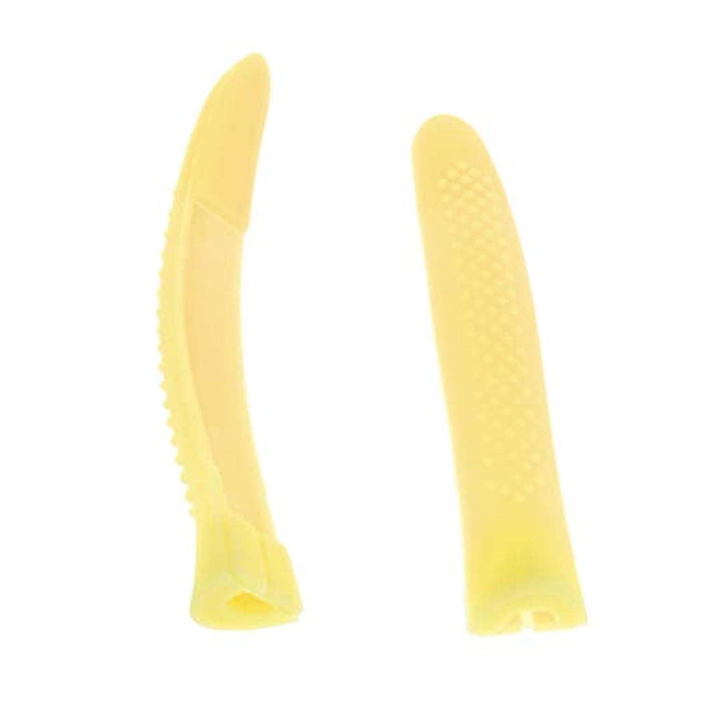 保有者ベンチ壊すキューティクルニッパー キャップ 保護スリーブ ネイルニッパー キャップ ニッパーキャップ 全4カラー - 黄