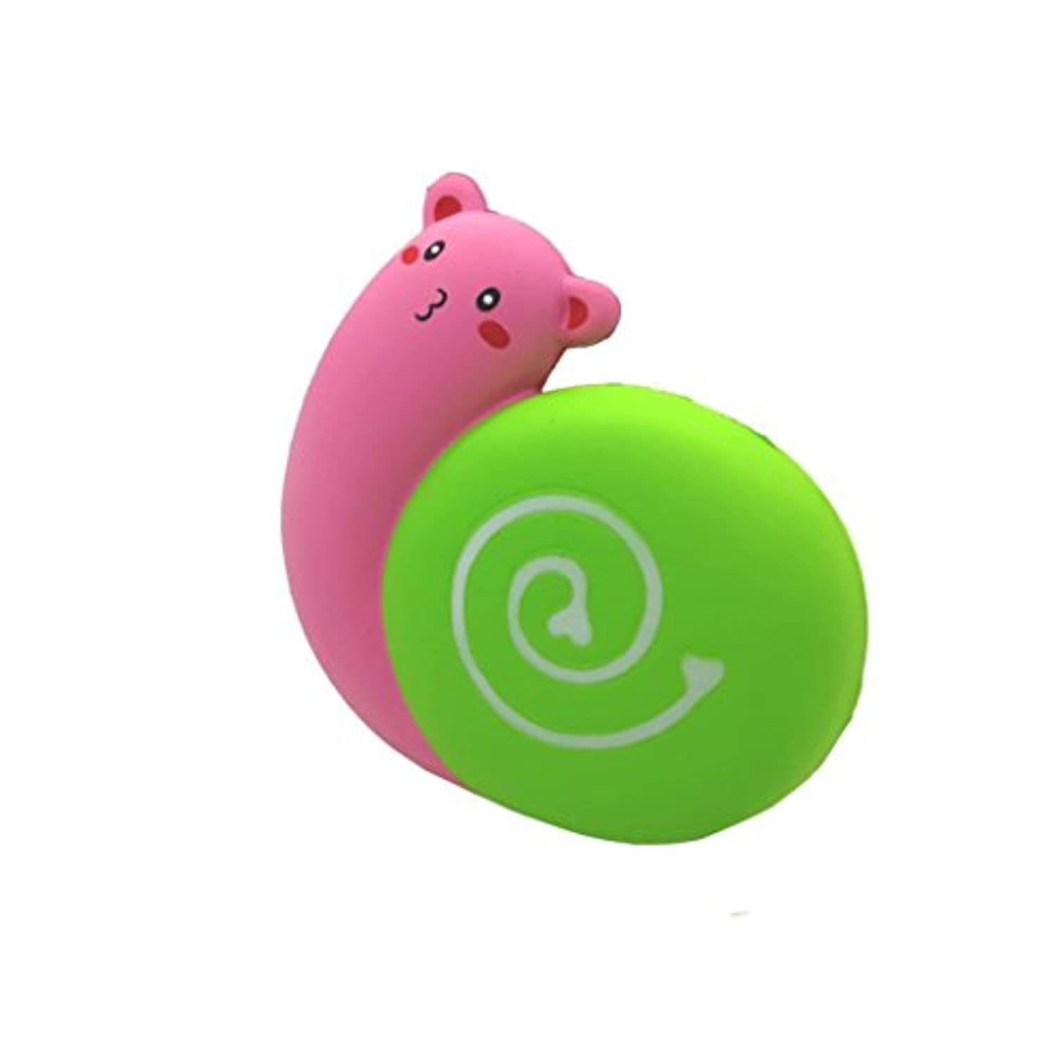 cinhent Squishyジャンボかわいい絵文字Love Snail Slow RisingクリームSqueeze香りつきCure Stress Reliefおもちゃギフト3色オプション 12x4x11.5cm ピンク CHINA-8808