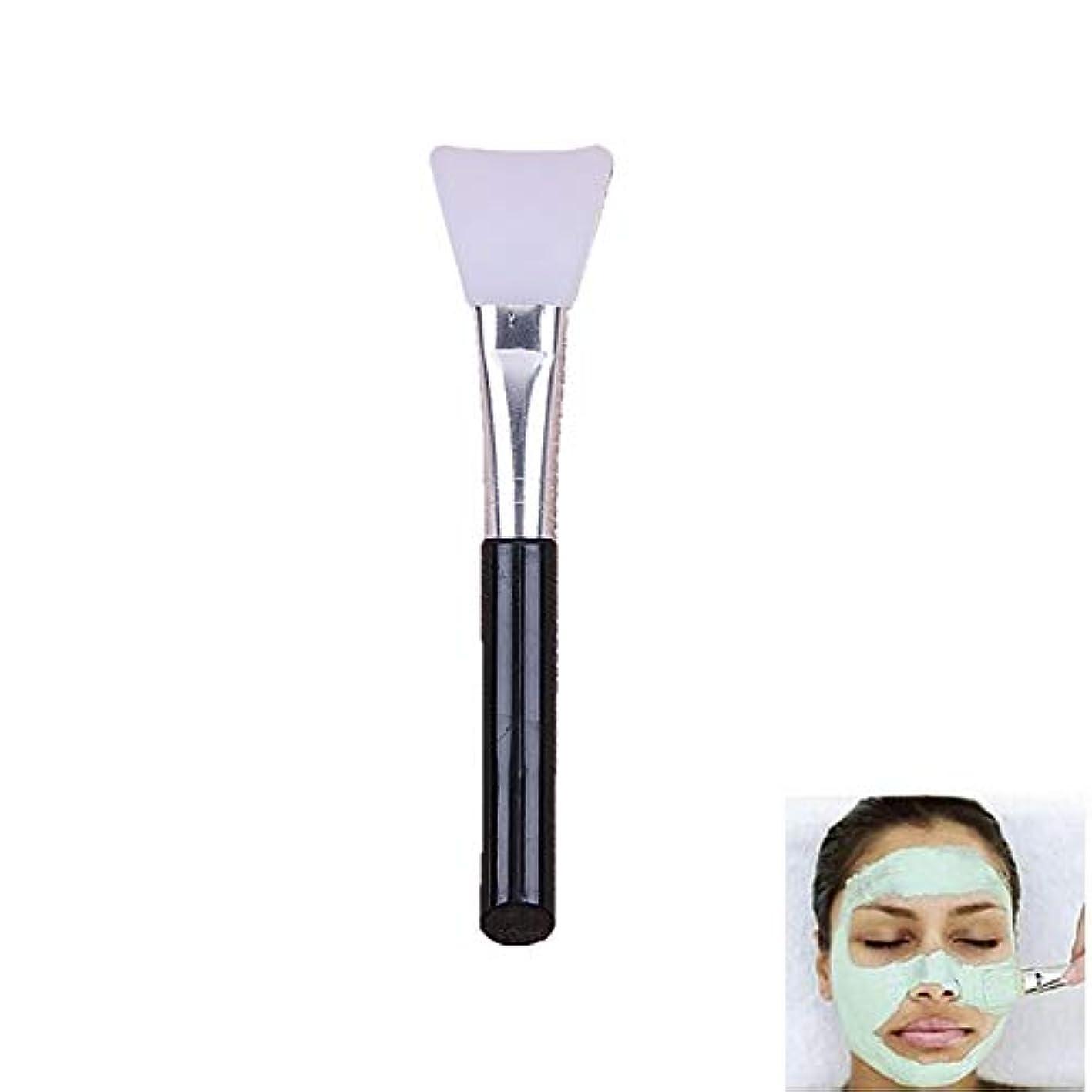 好色なキノココミュニケーションシリコーン被覆ブラシDIYマスク泥マスク本体クリーム及びボディローションアプリケータツールは、ブラシのブラシ(黒ハンドル)混合泥マスクを起毛