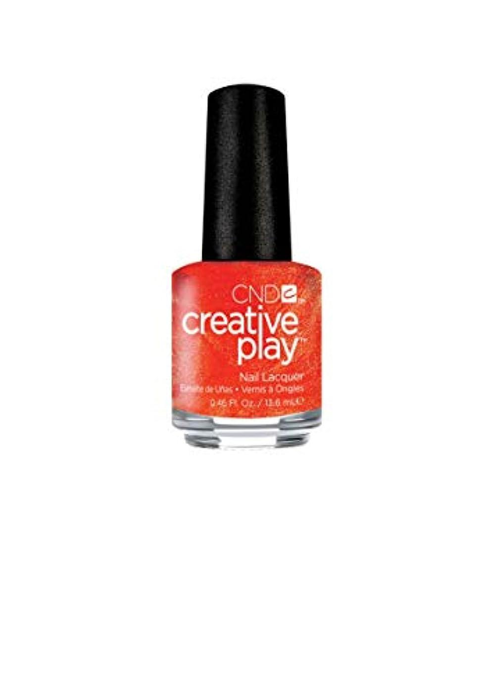 ブラウン移植先入観CND Creative Play Lacquer - Orange You Curious - 0.46oz / 13.6ml