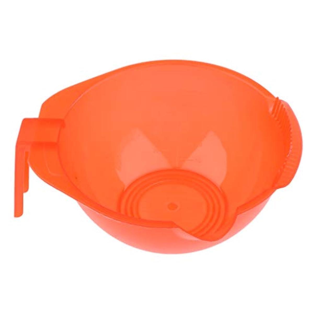 豚食堂シーフードヘアカラーボウル ミキシングボウル プロのサロン 家庭用DIY 5色選べ - 赤