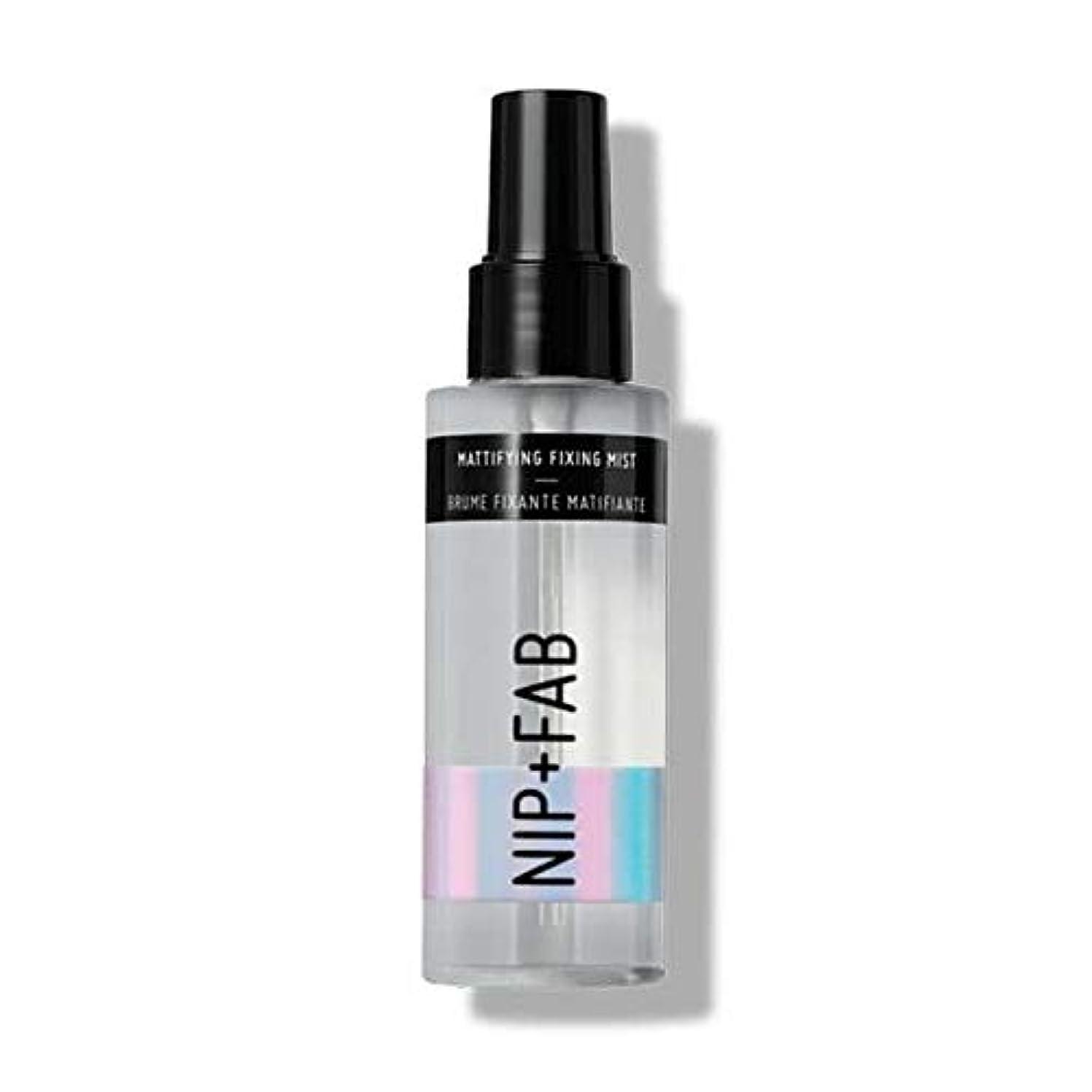 韓国語離れて郵便番号[Nip & Fab ] ミスト100ミリリットル1を固定艶消し作るFab +ニップ - NIP+FAB Make Up Mattifying Fixing Mist 100ml 1 [並行輸入品]