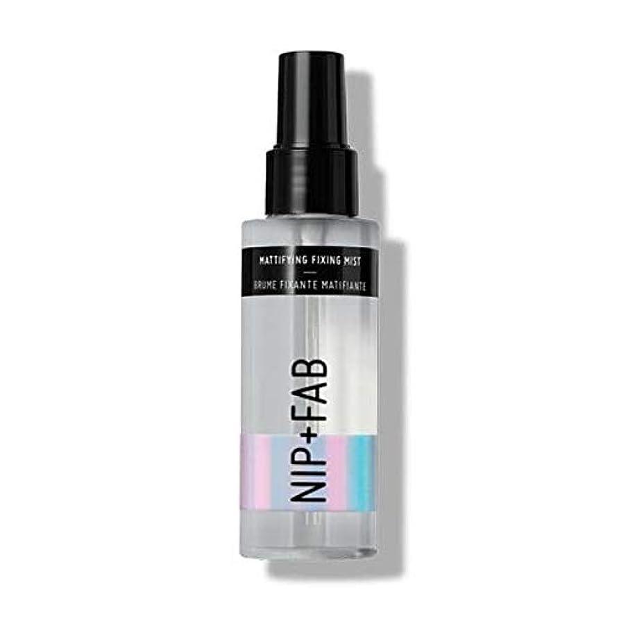 無声で振動するヒステリック[Nip & Fab ] ミスト100ミリリットル1を固定艶消し作るFab +ニップ - NIP+FAB Make Up Mattifying Fixing Mist 100ml 1 [並行輸入品]