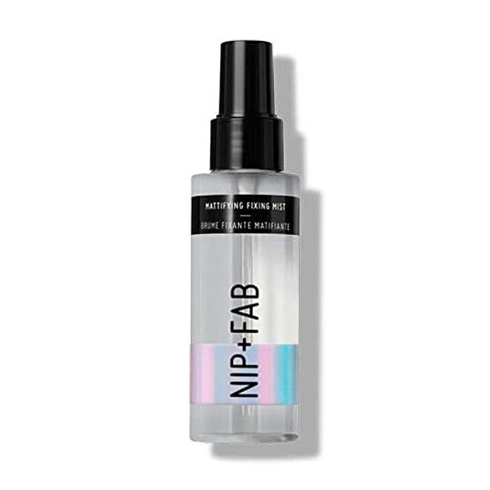 負砂利意図的[Nip & Fab ] ミスト100ミリリットル1を固定艶消し作るFab +ニップ - NIP+FAB Make Up Mattifying Fixing Mist 100ml 1 [並行輸入品]