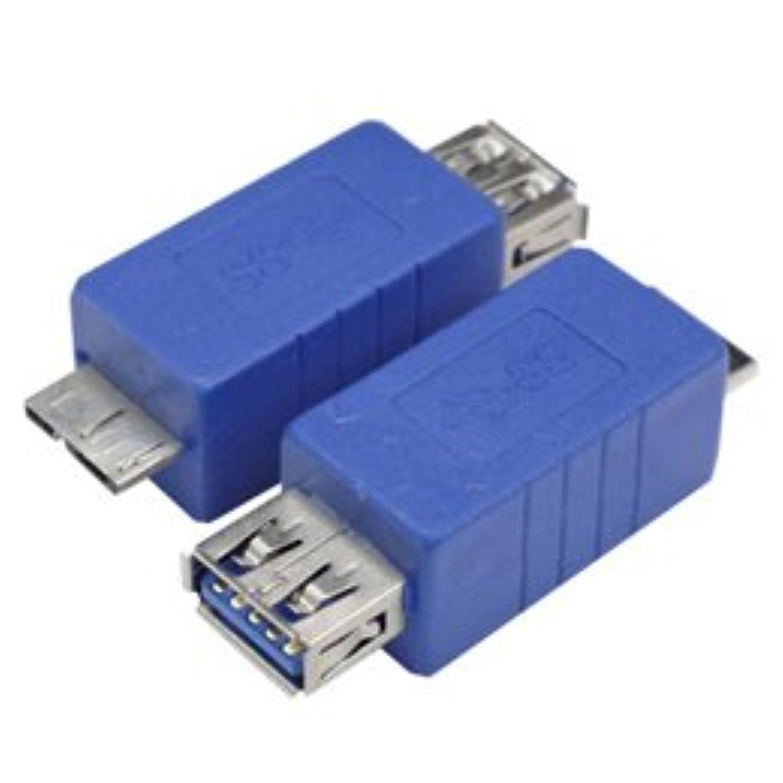 アクセント札入れすなわち【まとめ 4セット】 変換名人 変換プラグ USB3.0 A(メス)-micro(オス) USB3AB-MCA