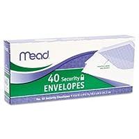 Meadセキュリティ封筒、41/ 8x 91/ 2、20ポンド、ホワイト、40/ボックス( Pack of 3) 6 Pack