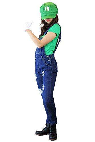 【 Mitchie & Mary 】 コスプレ マリオ ルイージ セット スーパーマリオ コスチューム (S, ルイージ・ロング)